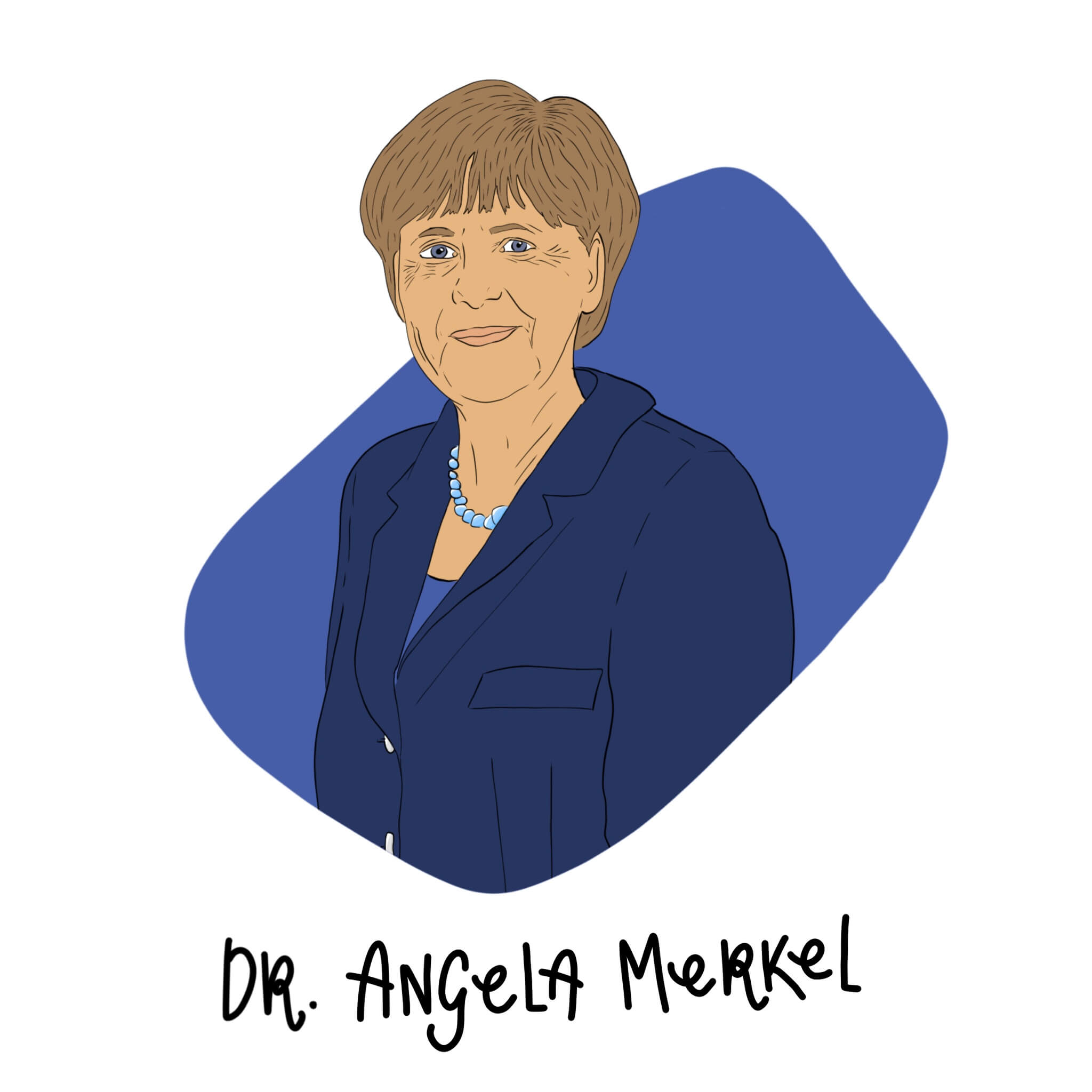 Dr. Angela Merkel Illustration by Jessica Ringelstein