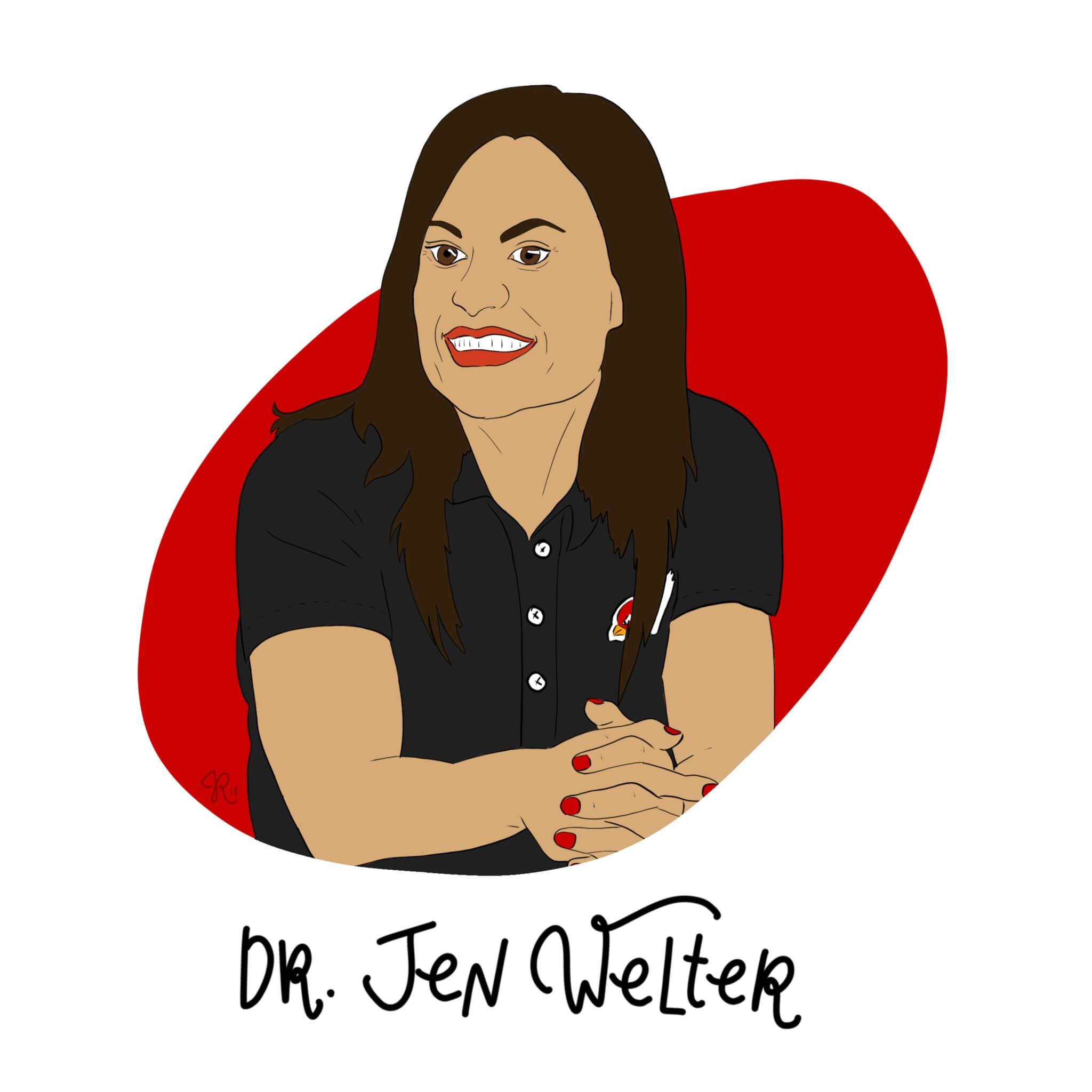 Dr. Jen Welter Illustration by Jessica Ringelstein
