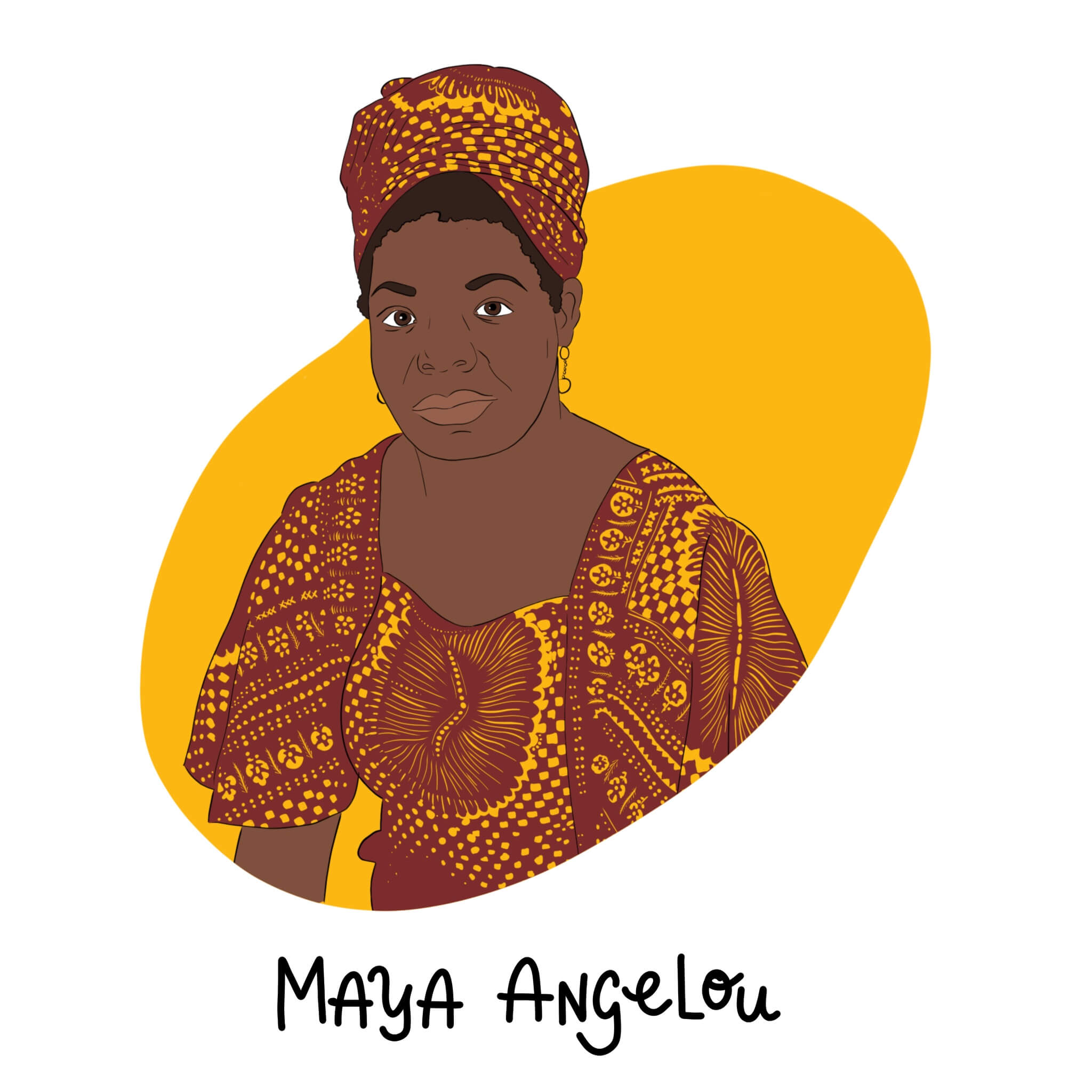 Maya Angelou Illustration by Jessica Ringelstein