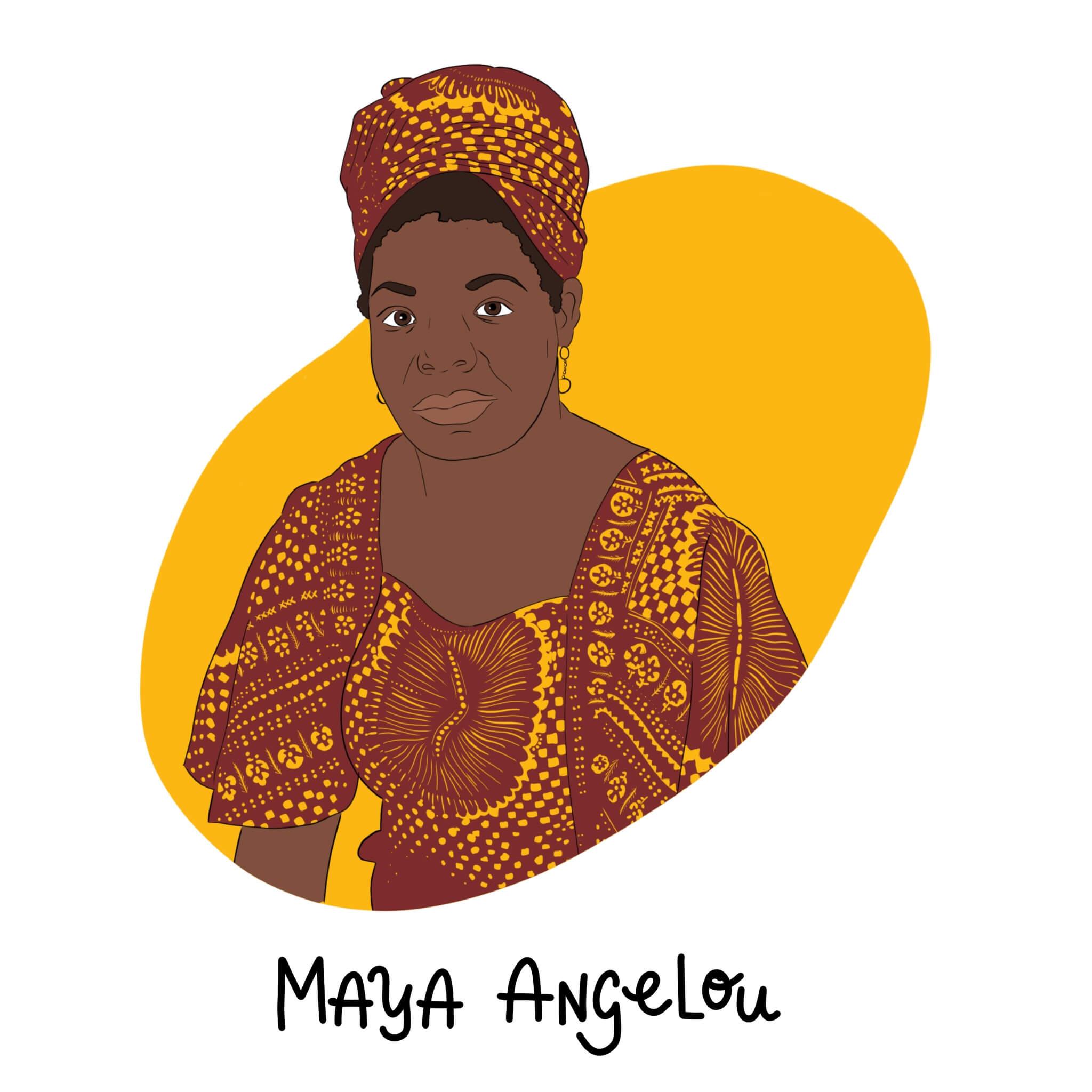 Maya Angelou Illustration by Jessica Ringelstein