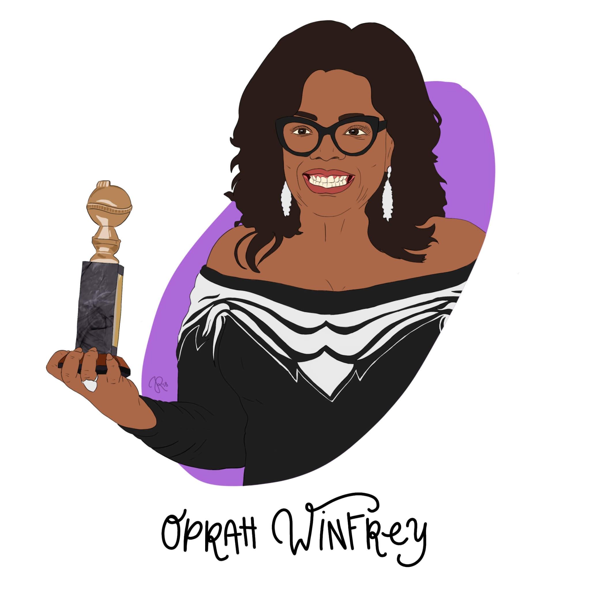 Oprah Winfrey Illustration by Jessica Ringelstein