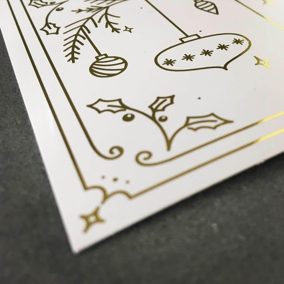 Monoline Lettering Weihnachtskarte Detail von Jessica Ringelstein