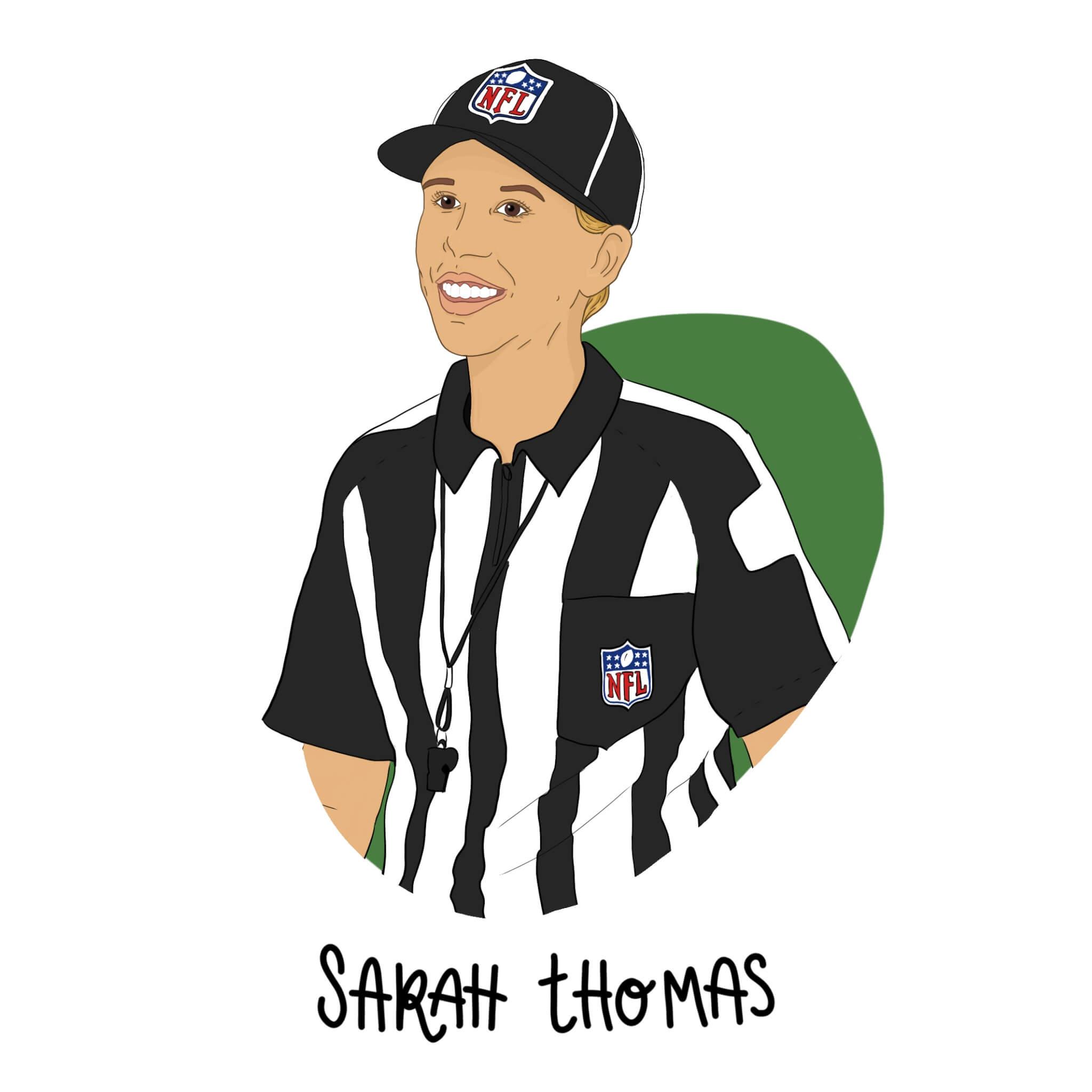 Illustration of Sarah Thomas by Jessica Ringelstein
